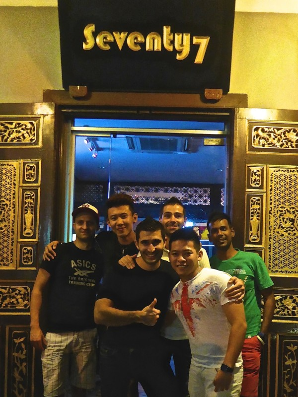 Nomadic Boys with friends at Seventy7 in Penang