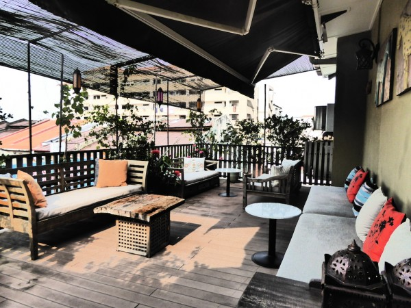 Rooftop terrace at Campbell house in Penang