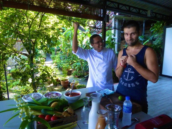 Chef Annuar and Seb in action