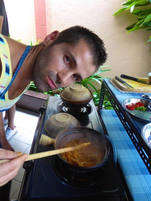 Seb showing off his Curry Kapitan