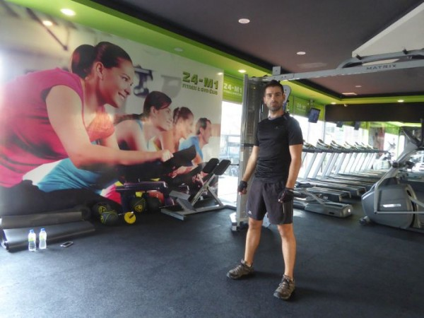 Sebastien discovering Gym 24-M1 in Penang