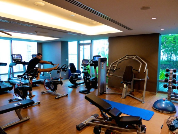 The gym at Hotel Jen