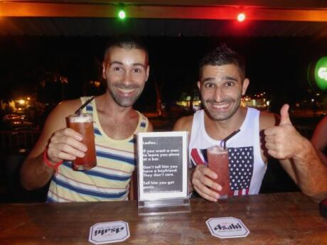 Cocktails at gay friendly One Love bar