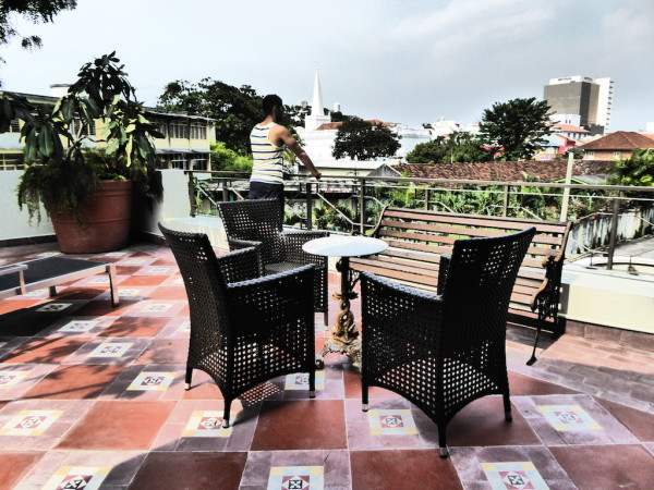 Our private terrace