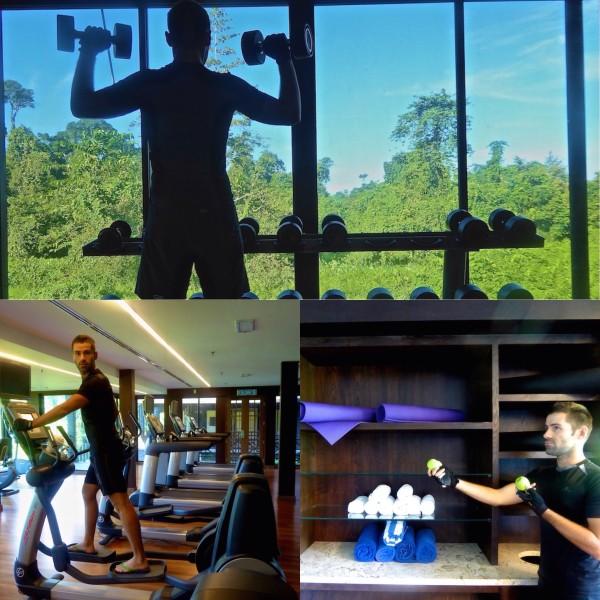 Sebastien at the Mulu Marriott gym
