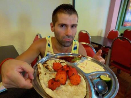 Sebastien with tandoori at Kapitan