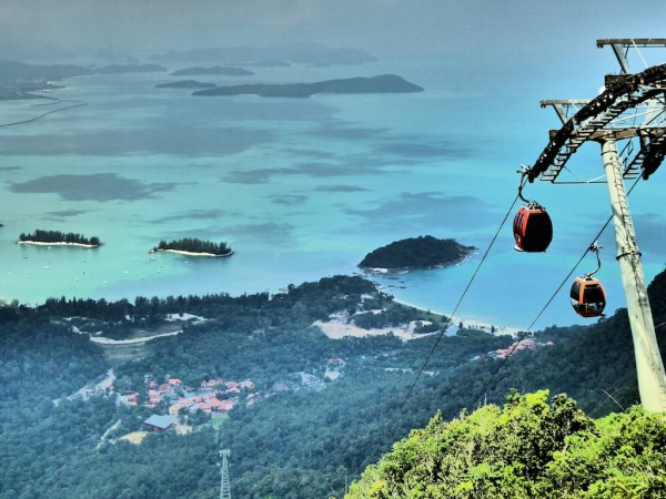 Sky Bridge view of Langkawi