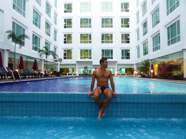 Stefan at the Soluxe Hotel pool
