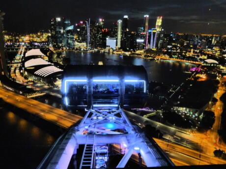 La vista desde nuestro pod de Singapore Flyer