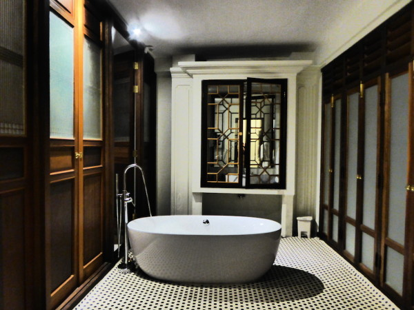 Our bathroom area in our Seven Terraces suite