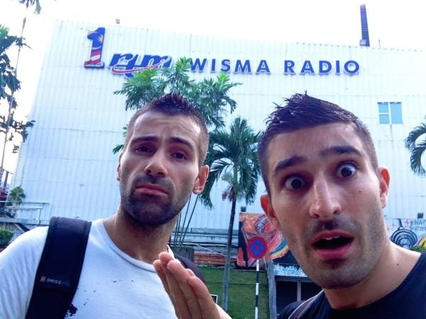 Radio Wisma centre selfie