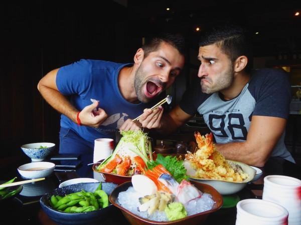 Nomadic Boys food fight at Nagisa Japanese Restaurant