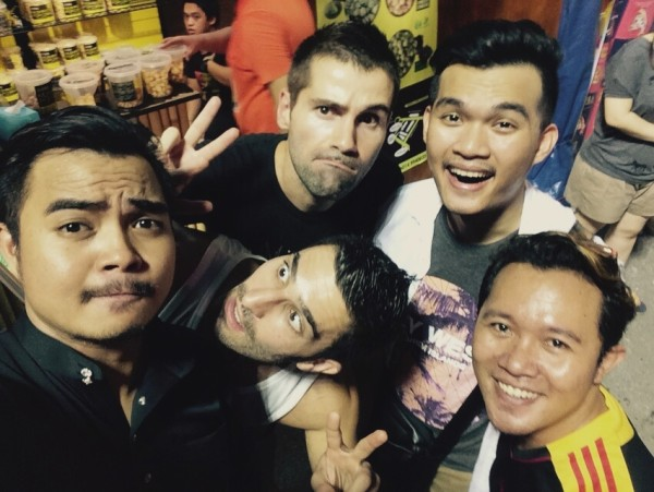 Group selfie with friends at the RWMF