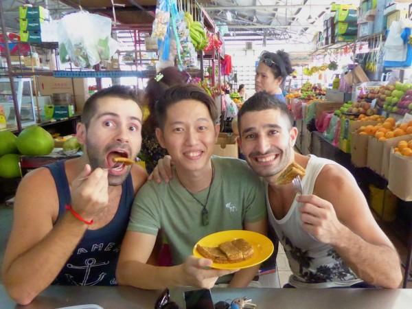 Peanut pancakes treat in Sandakan
