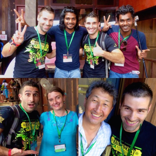 Photos with the performers from Rainforest World Music Festival