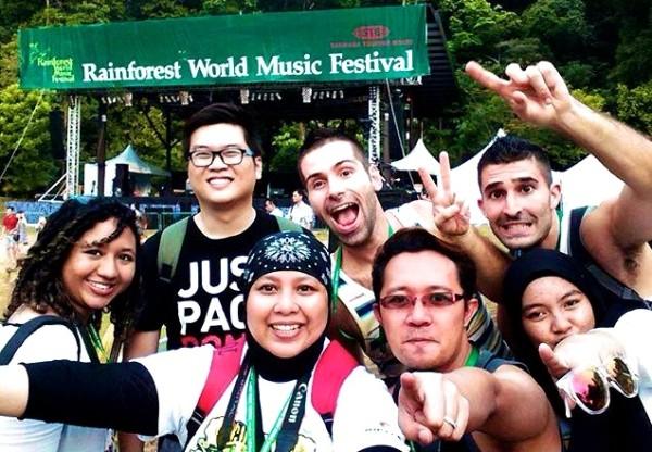 Our Sarwakian RWMF group selfie in Sarawak Malaysia