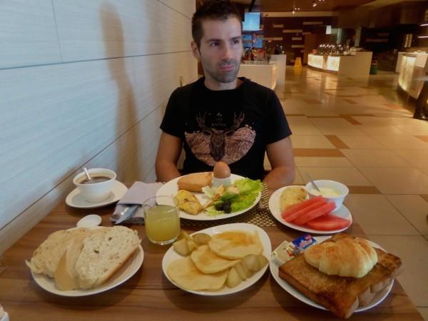 Sebastien breakfast at Four Points by Sheraton in Sandakan