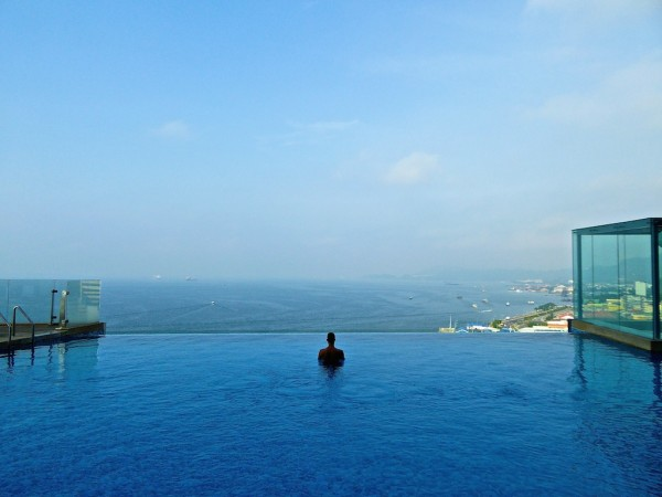 Stefan at Four Points by Sheraton infinity pool