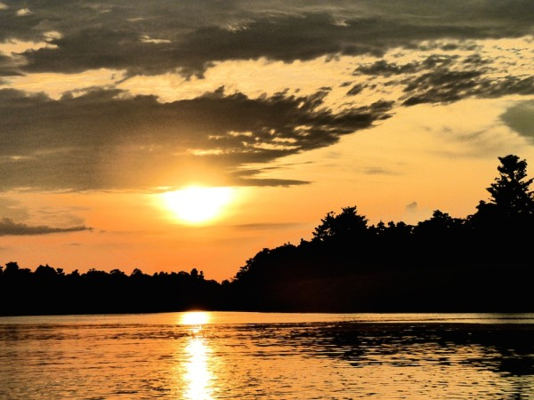 Kinabatangan River sunset