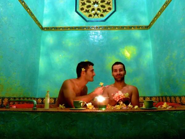 Bath of flowers at Prana Spa at The Villas Bali Hotel in Seminyak