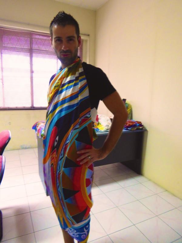 Sebastien with batik outfit