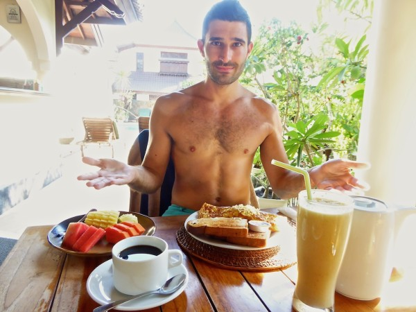 Martas breakfast with local Lombok coffee on Gili Trawangan island