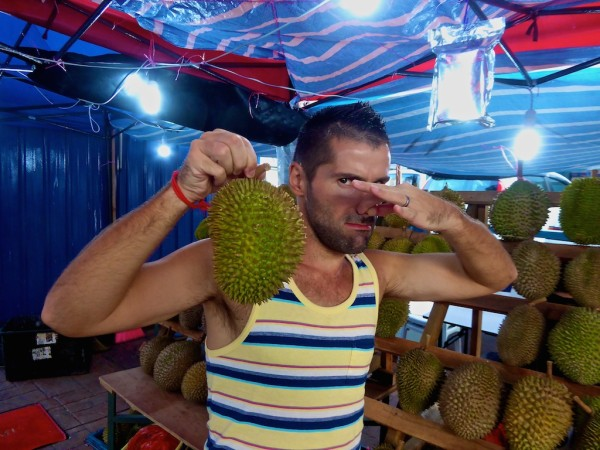 Seb with D24 Durian in Penang Malaysia
