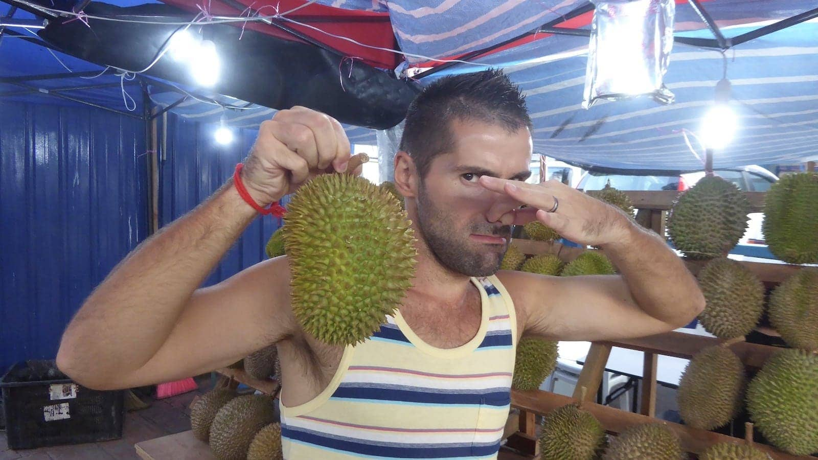 Durian smelly fruit in Malaysia