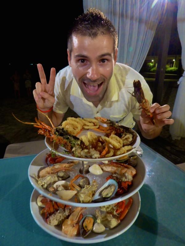 Seafood platter at Shangri-La Kota Kinabalu Sabah Malaysia