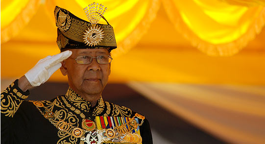 The King of Malaysia