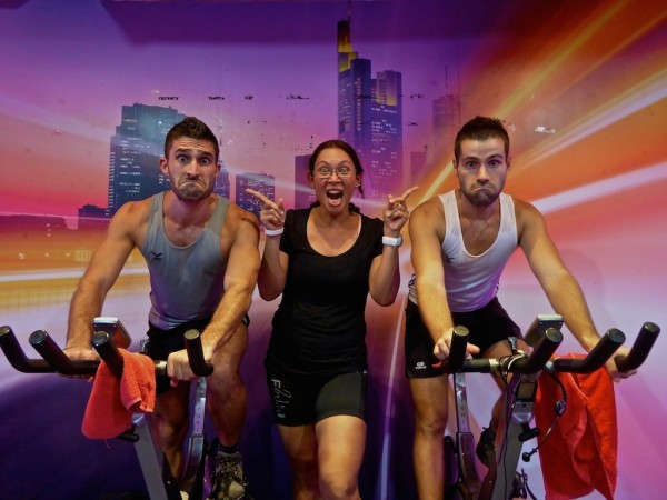 Spin class at Level Up Fitness gym in Kuching, Sarawak