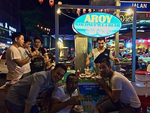 Midnight coconut in Kuala Lumpur, Malaysia