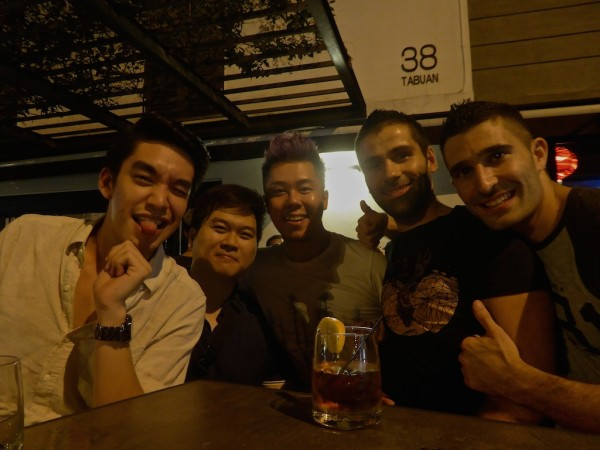 Night out at Zinc gay friendly bar in Kuching