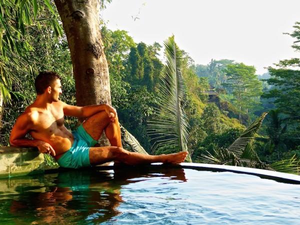 Stefan infinity pool at Villa Awang Awang in Ubud, Bali