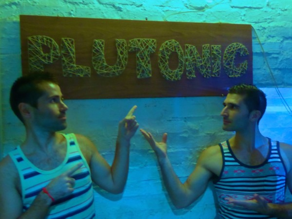 Stef and Seb at Plutonic gay bar in Kota Kinabalu