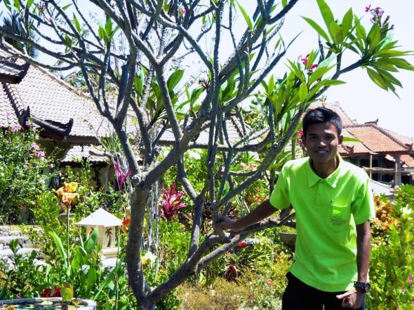Rusman staff member at Rinjani Lodge at Senaru village, Lombok island