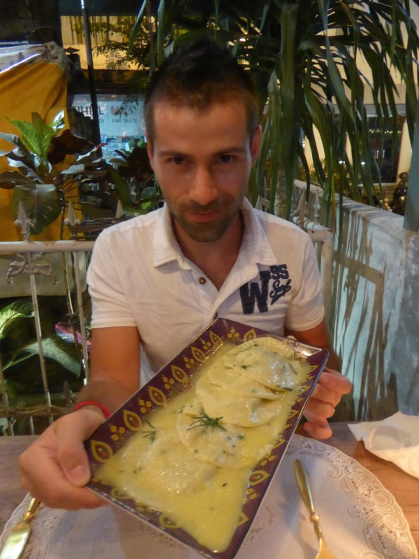 Rolling Fork Restaurant Seb Ravioli in Seminyak Bali