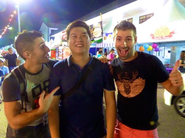 Robbie, Stefan and Sebastien in Kuching, Sarawak