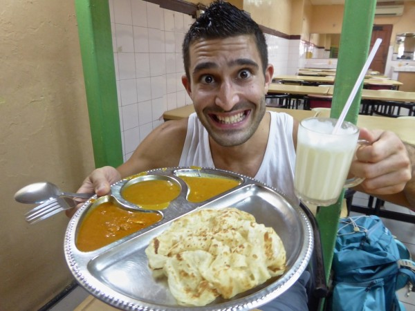 Roti Canai: one of our Indian influenced favourite foods to try in Malaysia