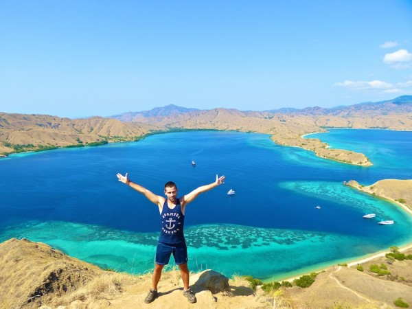 Trekking on islands in the Komodo National Park