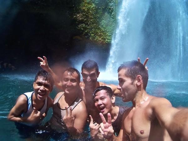 Sendang Gile waterfall Mount Rinjani National Park near Senaru Village Lombok