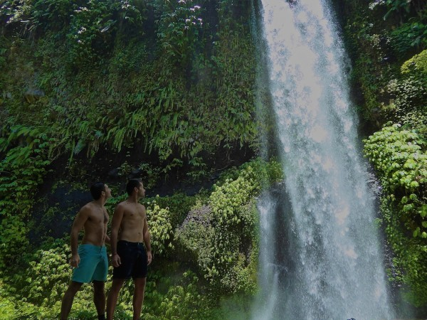Sendang Gile Waterfall at Senaru Village Lombok