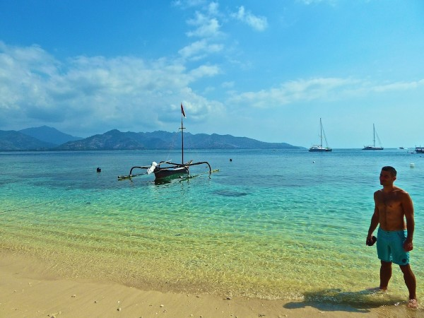 Stefan on secluded Gili Meno island for gay guide to Gili Islands