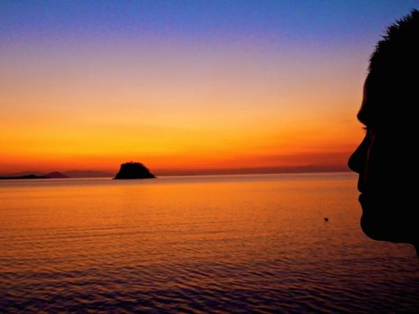 Sunset view from Blue Marlin Komodo in Labuanbajo