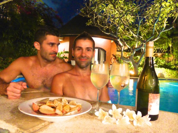 Drinks by our pool Bali Island Villa Seminyak
