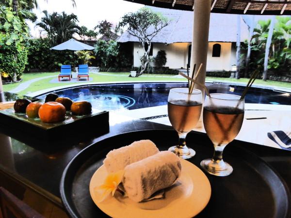 Welcome drinks Dusun Villas, Seminyak, Bali