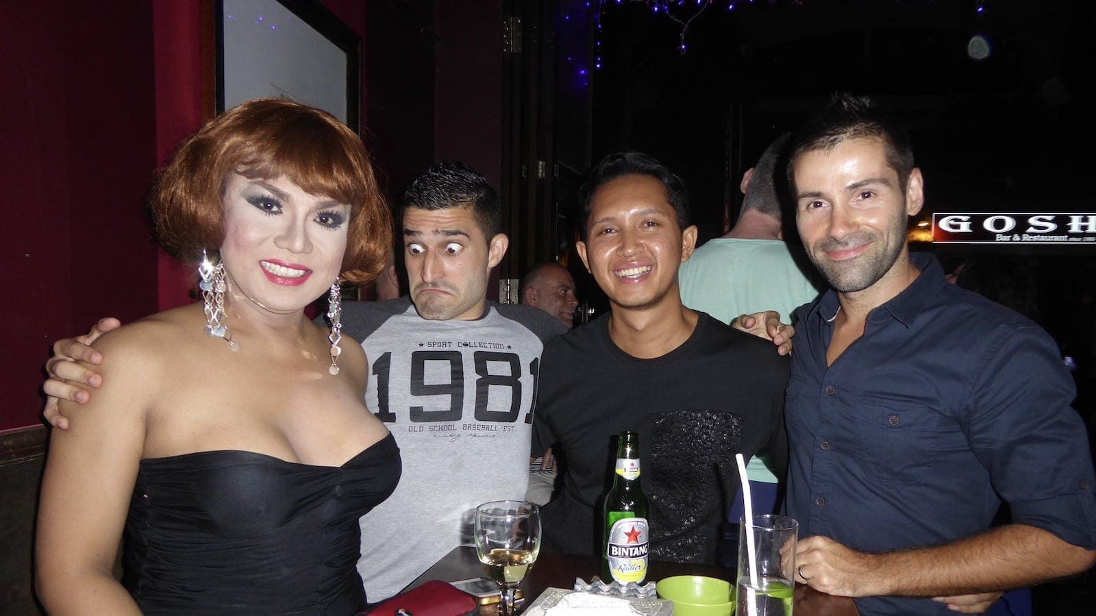 Bali gay scene and gay bars with drag queens