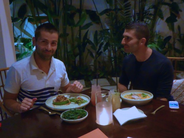 Our meal at Bambu restaurant in Seminyak, Bali