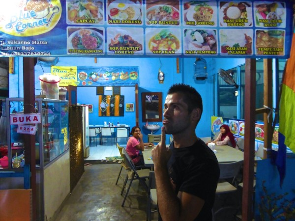 Blue Corner Labuanbajo serving local foods