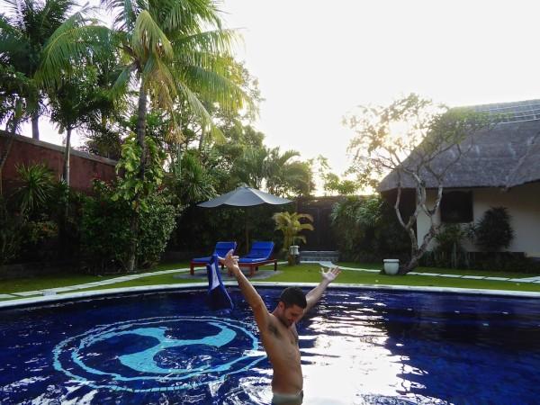 Stefan's gay Bali chillaxing moment in Villas Bali Seminyak